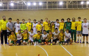 Barcelona futsal team photo
