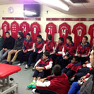 UE Bordeta in Liverpool FC Dressing Room