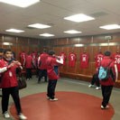 UE Bordeta in Man Utd Dressing Room